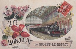 """NOGENT-LE-ROTROU * Carte Postale En Très Bon état - """"Un Bonjour De Nogent-le-Rotrou - Nogent Le Rotrou"""