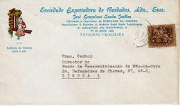 SOCIEDADE EXPORTADORA DE BORDADOS , José Gonçalves Jardim  , Funchal , Madeira , 1972 , Medieval Knigth  Stamp - 1910-... Republic