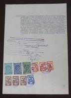 Yugoslavia 1956 Local KIKINDA Revenues On Document BB22 - Covers & Documents