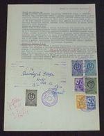 Yugoslavia 1956 Local KIKINDA Revenues On Document BB23 - Covers & Documents