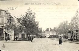 Cp Nogent Sur Marne Val De Marne, Les Tramways Nogentais, Tram - Autres Communes