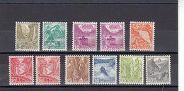 Suisse - Année 1936 - N°YT 289**/297** +291A**+293A** - Paysages, Type De 1934 Modifiés Et Gravés - Papier Ordinaire - Kehrdrucke