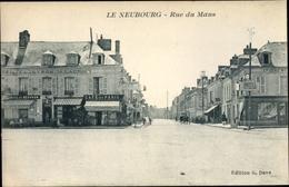 Cp Le Neubourg Eure, Rue Du Mans - France