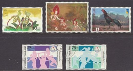 Thailand - Folklore, Dance, Orchids, Domestic Fowl, Traditional Farm House, Asian Games '78 - (Lot) Used - Thailand