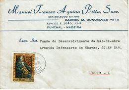 MANUEL TOMAZ AQUINO PITTA  , Gabriel Gonçalves Pitta  , Funchal , Madeira , 1972 , Pombal Marquis  Stamp - 1910-... Republic