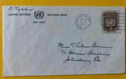 10157 - Enveloppe New-York 12.05.1954 - New-York - Siège De L'ONU