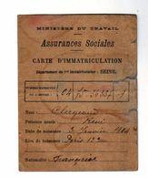 Carte D'immatriculation Du Dèpartement De La Seine De Mr Clergeaud De 1930 - Historische Dokumente