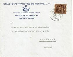 UNIÃO EXPORTADORES DE CESTOS , Willow Baskets  , Funchal , Madeira , 1972 , Medieval Knigth  Stamp - 1910-... Republic