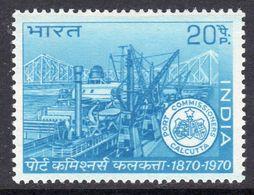 India 1970 Centenary Of Calcutta Port Trust, MNH, SG 622 (D) - Neufs