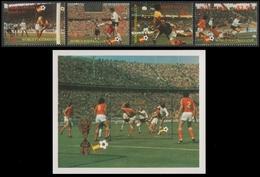 St. Lucia 1982 - Mi-Nr. 573-576 & Block 33 ** - MNH - Fußball / Soccer, Football - St.Lucia (1979-...)