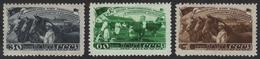 Russia / Sowjetunion 1948 - Mi-Nr. 1256-1258 * - MH - Viehzucht - Unused Stamps