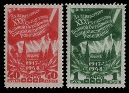 Russia / Sowjetunion 1948 - Mi-Nr. 1288-1289 * - MH - Oktoberrevolution - 1923-1991 USSR