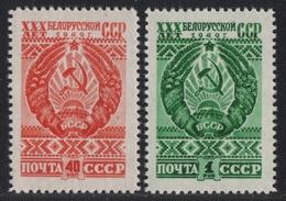 Russia / Sowjetunion 1949 - Mi-Nr. 1309-1310 ** - MNH - Belarus - 1923-1991 USSR