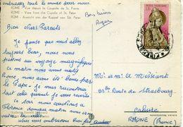 """Vaticano (1956) - 35 Lire """"Niccolò V"""" Su Cartolina Per L'estero - Vatican"""