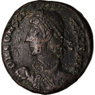 Monnaie, Constance II, Maiorina, 348-350, Alexandrie, TTB, Cuivre - 7. El Impero Christiano (307 / 363)
