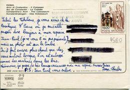 """Vaticano (1990) - 1500 Lire """"Isola Di Malta"""" Su Cartolina Per La Francia - Vatican"""