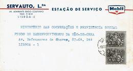 SERVAUTO , MOBIL  ,  Car Maintenance , Fuels And Lubricants , 1972 , Medieval Knight  Stamp $50 - 1910-... République