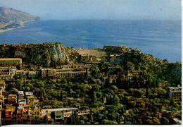 Taormina - Panorama (viaggiata 1981) - Bollo Club Mediterranée - Italia