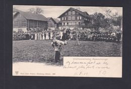 Belle Carte Suisse  Depart Morschach Urschweizerischer Alplerschwingen ( Jeu  Gymnastique ? Editeur Wehrli Zurich 41882) - SZ Schwyz