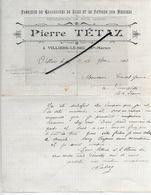 52 - Haute-marne - VILLIERS-LE-SEC - Facture TETAZ - Fabrique De Chaussures - 1910 - REF 293 - France