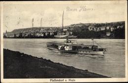 Cp Pfaffendorf Koblenz Rheinland Pfalz, Rheinpartie, Dampfer, Panoramablick Auf Den Ort - Allemagne