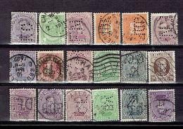 203P1 - Belgique Perforés - Geperforeerd All Différents De 1884 A Houyoux 1922 - Perfin