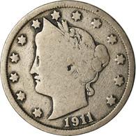 Monnaie, États-Unis, Liberty Nickel, 5 Cents, 1911, U.S. Mint, Philadelphie - EDICIONES FEDERALES