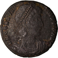 Monnaie, Constance II, Half Maiorina, 349, Constantinople, TTB, Cuivre, RIC:93 - 7. El Impero Christiano (307 / 363)