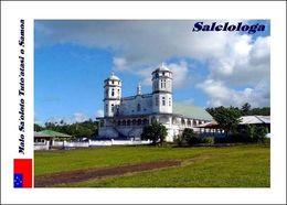 Samoa Salelologa Church New Postcard - Eglises Et Cathédrales