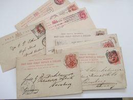 GB 1890 - 1907 Kleiner Ganzsachen Posten 17 Stk. Teilw. Gedrucke Firmen Abs. Und 1x Doppelkarte Alle Nach Nürnberg - Briefe U. Dokumente