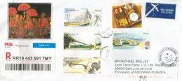Belle Lettre Recommandée De Malaisie 2020 , Adressée Andorra, Avec Timbre à Date Arrivée - Malasia (1964-...)
