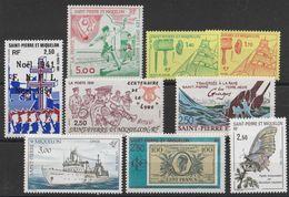 Lot Timbres De Saint Pierre Et Miquelon De 1991 Neufs ** - St.Pierre Et Miquelon
