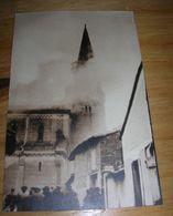 Cpsm 9x14 V DD Pres Toulouse Eglise St Martin Du Touch Incendie Du 19 Fev 1948 + Autographe De L Abbe Rives Bon Etat - France