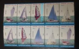 MNH STAMPS Pakistan - The 9th Asian Sailing Championship - 1999 - Pakistan