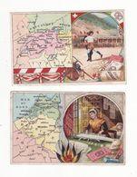 Chromo  CHOCOLAT SUCHARD    Lot De 3    Cartes Géographiques - Suchard