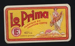 """Ancienne étiquette Fromage Le Prima """"LF"""" Louis Ferreux Fromagerie De Demangevelle Haute Saone 70 - Käse"""