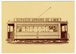 """""""LA BREDA"""" - 1886-1986 - 1924 - TRAM PER LA CITTA' DI LIMA - PERU' - LAVORO ITALIANO NEL MONDO - Vedi Retro - Tranvía"""