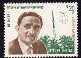 India 1972 1st Death Anniversary Of Dr V.A. Sarabhai, Rocket Scientist, MNH, SG 670 (D) - Neufs