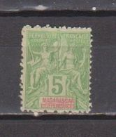 MADAGASCAR           N°  YVERT    42 A   NEUF AVEC CHARNIERES      ( CHARN  03/ 33 ) - Madagascar (1889-1960)