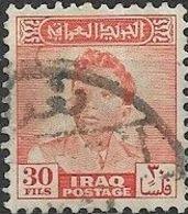 IRAQ 1948 King Faisal II - 30f - Orange FU - Iraq
