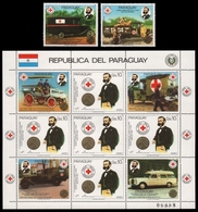 Paraguay 1985 - Mi-Nr. 3895, 3897 & KLB 3896 ** - MNH - Rotes Kreuz - Paraguay