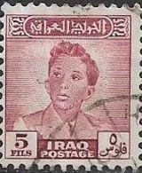 IRAQ 1948 King Faisal II - 5f - Red FU - Iraq
