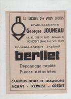 Jouneau Berliet Poids Lourds Bobigny - Publicités