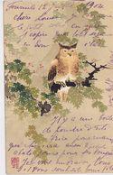 Cpa-illustrateur- Vienne - B.K.W.I. 690 / 13 - Kirchner ?--chouette /  Eule / Owl / Hibou- Art Nouveau /deco - Vienne