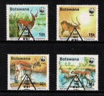 Botswana 1988 Red Lechwe WWF Set Of 4 Used - Botswana (1966-...)