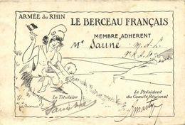 Illustrateur Signé ARMEES Du RHIN  LE BERCEAU FRANCAIS  Membre Adherent RV - Patriotiques