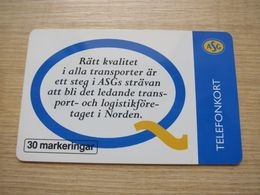 30 Markeringar Chip Phonecard,ASG, 9000 Pieces,used - Zweden