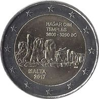 2E240 - MALTE - 2 Euros Commémorative - Le Temple 2017 - Malta