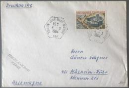 France N°1402 Sur Lettre - TAD Hexagonal TOULON JEAN BART MARINE VAR 1964, Pour L'Allemagne - (B2887) - Marcophilie (Lettres)