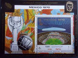 YEMEN JEMEN YAR MI-NR BLOC 131 MNH/NEUF** FOOTBALL MEXICO 1970 - Fußball-Weltmeisterschaft